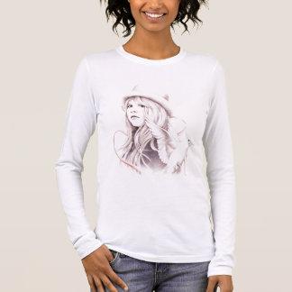 白によって飛ぶ鳩- Tシャツ