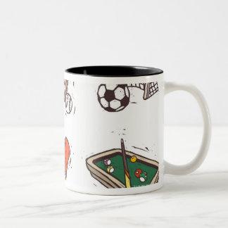 白に対して表示されるスポーツ用品 ツートーンマグカップ