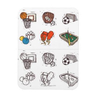 白に対して表示されるスポーツ用品 マグネット