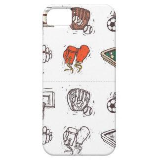 白に対して表示されるスポーツ用品 iPhone SE/5/5s ケース