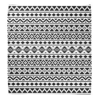 白のアステカな本質パターンII黒 バンダナ