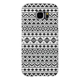 白のアステカな本質パターンII黒 SAMSUNG GALAXY S6 ケース