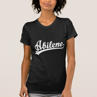白のアビリンの原稿のロゴ Tシャツ