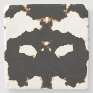 白のインクしみカードのRorschachテスト ストーンコースター