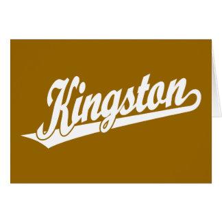 白のキングストンの原稿のロゴ カード