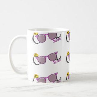 白のクールな姉妹太陽そしてサングラス コーヒーマグカップ