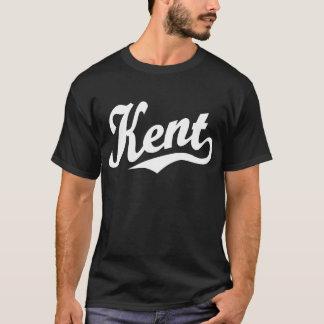 白のケントの原稿のロゴ Tシャツ
