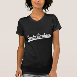 白のサンタ・バーバラの原稿のロゴ Tシャツ