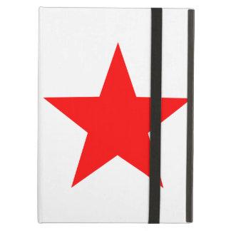 白のシンプルで大きく無地ので赤い星 iPad AIRケース