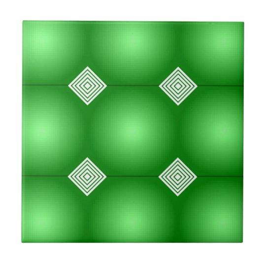 白のストライプとの緑の勾配 正方形タイル小