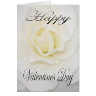 白のバレンタインの花 カード