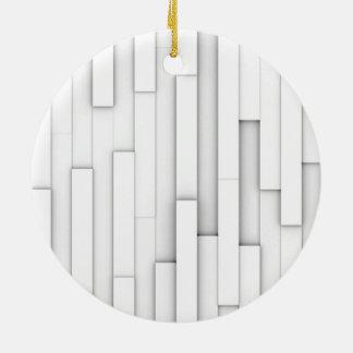 白のブロックの抽象芸術 セラミックオーナメント
