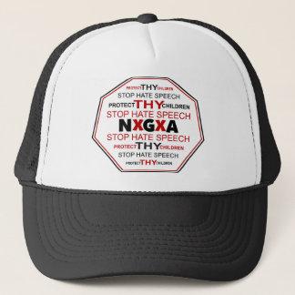 白の停止ヘイトスピーチの帽子 キャップ