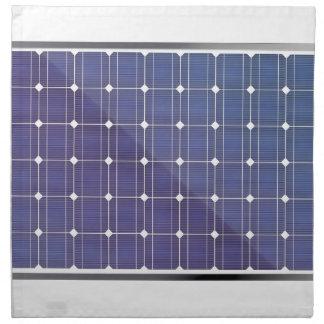 白の太陽電池パネル ナプキンクロス