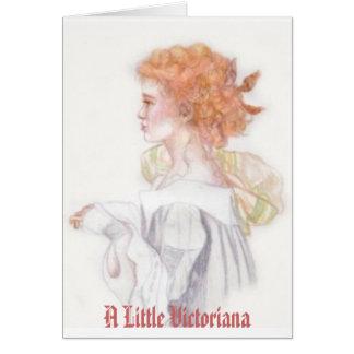 白の女の子他の方法1、小さいVictoriana カード