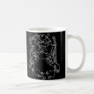白の小さい幽霊の女の子 コーヒーマグカップ