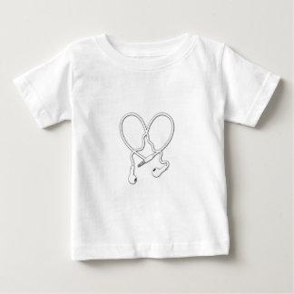 白の愛ヘッドホーン ベビーTシャツ