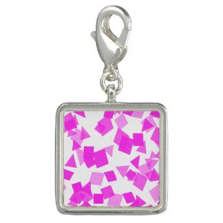 白の明るいピンクの紙吹雪 チャーム