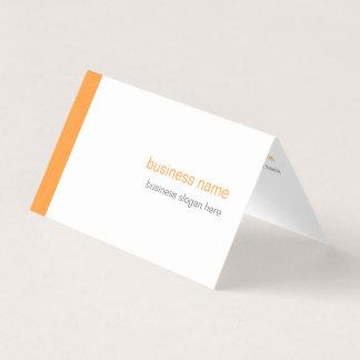 白の明白でエレガントでモダンでシンプルなオレンジのストライプ 名刺