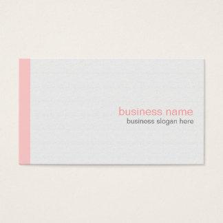 白の明白でエレガントでモダンでシンプルなピンクのストライプ 名刺
