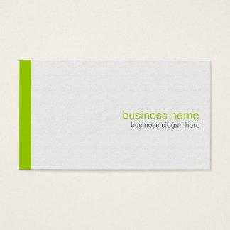 白の明白でエレガントでモダンでシンプルな緑のストライプ 名刺
