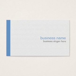 白の明白でエレガントでモダンでシンプルな青い縞 名刺