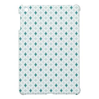 白の暗いターコイズ iPad MINIカバー