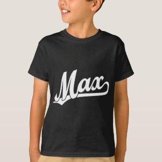 白の最高の原稿のロゴ Tシャツ