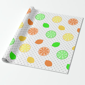 白の柑橘類の至福 ラッピングペーパー