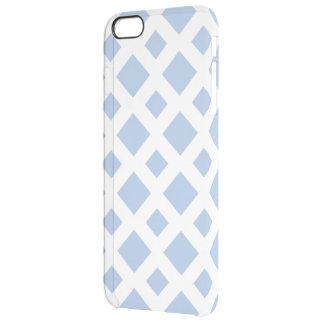 白の淡いブルーのダイヤモンド クリア iPhone 6 PLUSケース