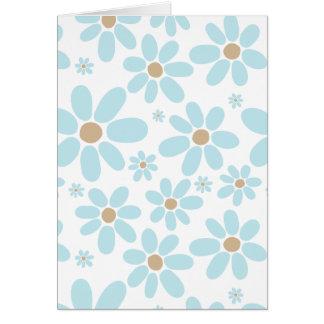 白の淡いブルーの花 カード