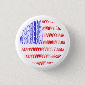 白の米国 缶バッジ