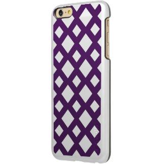 白の紫色の格子 INCIPIO FEATHER SHINE iPhone 6 PLUSケース
