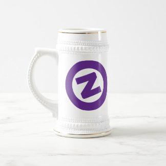 白の紫色Zはstien ビールジョッキ