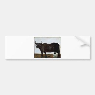 白の背景(diptyの黒い水牛の部分 バンパーステッカー
