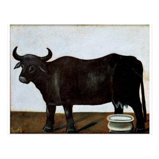 白の背景(diptyの黒い水牛の部分 ポストカード