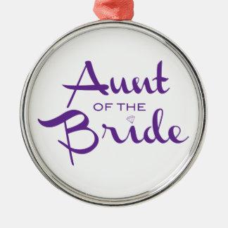 白の花嫁の紫色の叔母さん メタルオーナメント