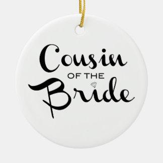 白の花嫁の黒のいとこ セラミックオーナメント