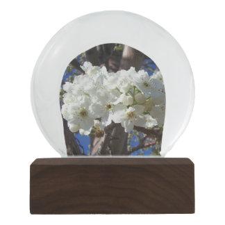 白の花IIの春の花盛りの木 スノーグローブ
