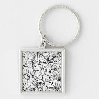 白の葉 キーホルダー