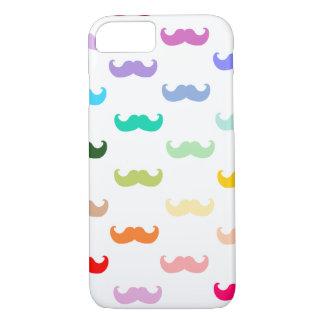 白の虹の髭パターン iPhone 8/7ケース
