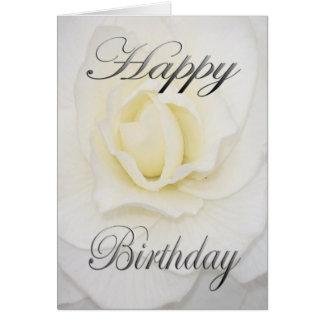 白の誕生日の花 カード