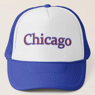白の赤いそして青のシカゴ キャップ