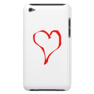 白の赤いハート Case-Mate iPod TOUCH ケース