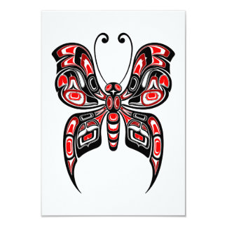 白の赤くおよび黒いHaidaの精神の蝶 カード