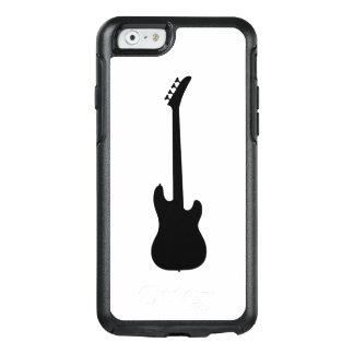 白の近代音楽のブラックバスのギター オッターボックスiPhone 6/6Sケース