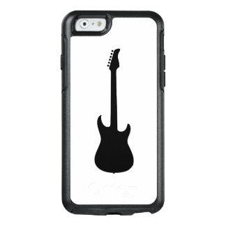 白の近代音楽の黒のエレキギター オッターボックスiPhone 6/6Sケース