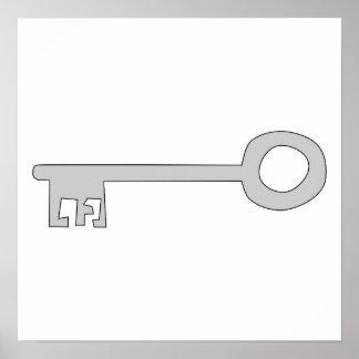 白の銀製灰色の鍵 ポスター