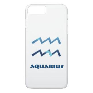 白の青いアクエリアスの(占星術の)十二宮図の印 iPhone 8 PLUS/7 PLUSケース
