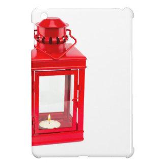 白の非常に熱いtealightが付いている赤いランタン iPad mini case